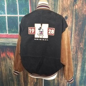 DISNEY MICKEY MOUSE SUEDE BOMBER JACKET